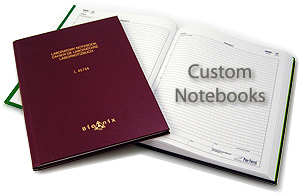 notebooks with custom covers and pages
